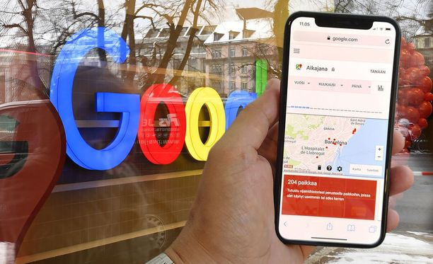 Googlen sijaintitiedot eivät poistukaan käytöstä, kun sijaintihistorian estää.
