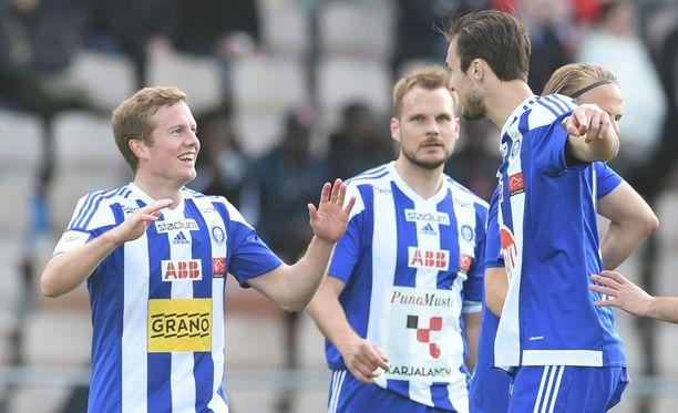 Sebastian Sorsa oli mukana HJK:n molemmissa maaleissa.