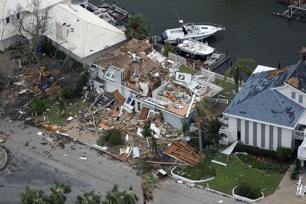 Hurrikaani Harvey on tuhonnut koteja Texasissa.