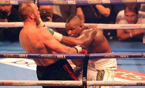 Dillian Whyte kukisti Robert Heleniuksen lauantai-iltana Cardiffissa käydyssä nyrkkeilyillassa.