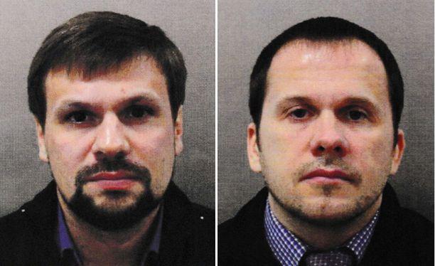 Anatoli Chepiga (vas.) on Bellingcatin mukaan GRU:n eversti ja Alexander Mishkin työskentelee GRU:n sotilaslääkärinä.