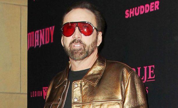 Nicolas Cagen kasvoilla ei nähty hymyn häivääkään.