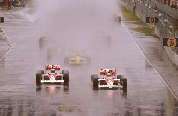 Ayrton Senna ja Alain Prost taistelivat verissä päin vuoden 1989 maailmanmestaruudesta.