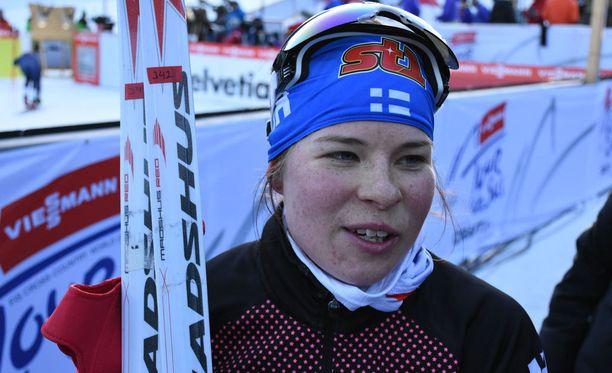 Krista Pärmäkosken kisa meni pipariksi ruotsalaisen kilpasiskon kömmähdyksen vuoksi.