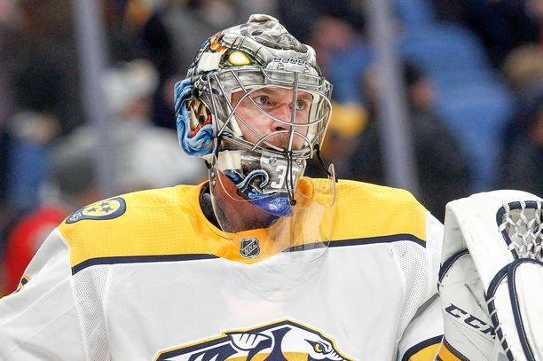 Pekka Rinne valittiin NHL:n parhaaksi maalivahdiksi kaudella 2017-18.