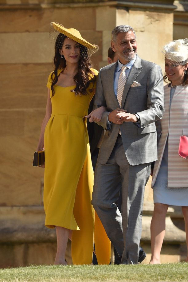 Amal ja George Clooney olivat yksi häiden upeimmista pareista.