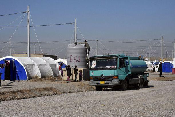 Pakolaisleirit ovat ahtaita ja monilla niistä on ongelmana huonolaatuinen vesi.