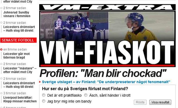 Ruotsissa tappio otettiin raskaasti.