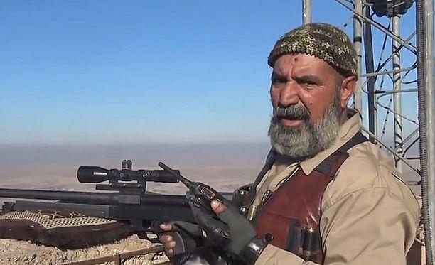 62-vuotias Abu Tahseen on taistellut viidessä aseellisessa konfliktissa.