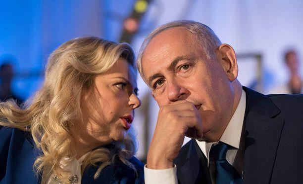 Israelin pääministeri Benjamin Netanyahu ja hänen vaimonsa Sarah Netanyahu.