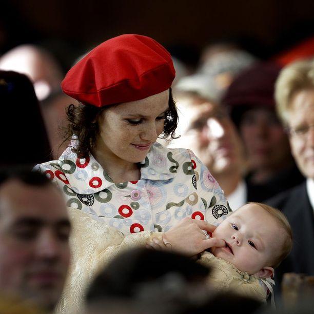 Ines Zorreguieta Hollannin prinsessa Arianen kastetilaisuudessa Haagissa lokakuussa 2007.