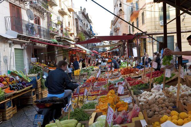 Palermon kaupunki Sisiliassa.