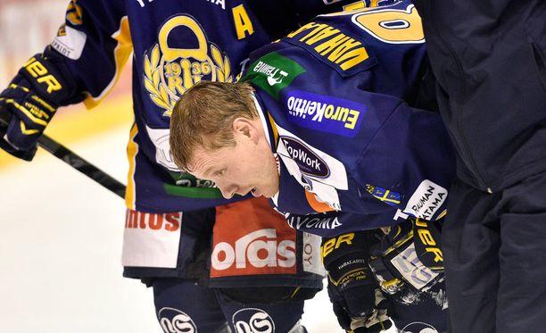 Ville Vahalahti loukkaantui pahannäköisesti.