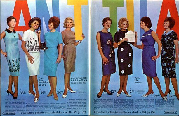 Kevään 1965 luettelo alkaa perinteisesti naisten vaatteilla.