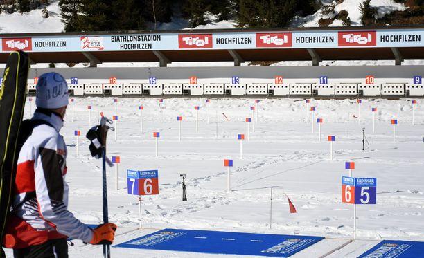 Hochfilzenissä MM-kisapaikkakunnalla on loistava talviurheilusää.