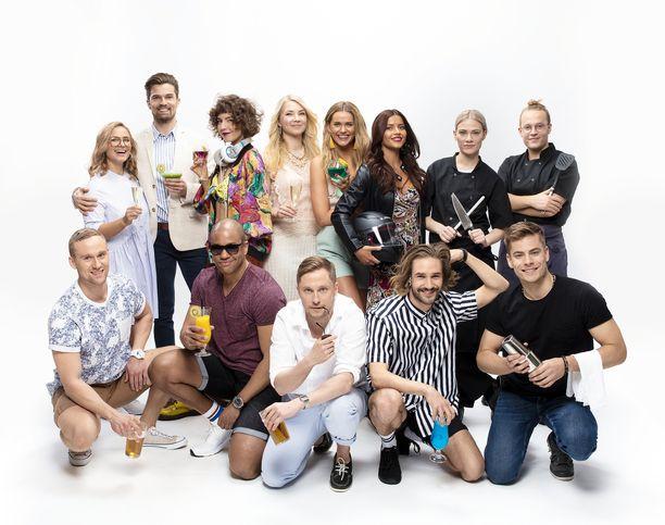 Rantabaaria tähdittävät Salatut elämät -sarjasta tutuksi tulleet Alissa (Johanna Puhakka), Lola (Sofia Arasola) ja Pietari (Miikka Wallin) sekä iso joukko uusia näyttelijätuttavuuksia.