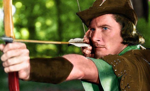 Errol Flynn Robin Hoodin roolissa vuonna 1938 ilmestyneessä elokuvassa.