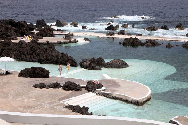 Porto Monizin suosittu uima-allas on syntynyt tulivuorenpurkauksen yhteydessä.