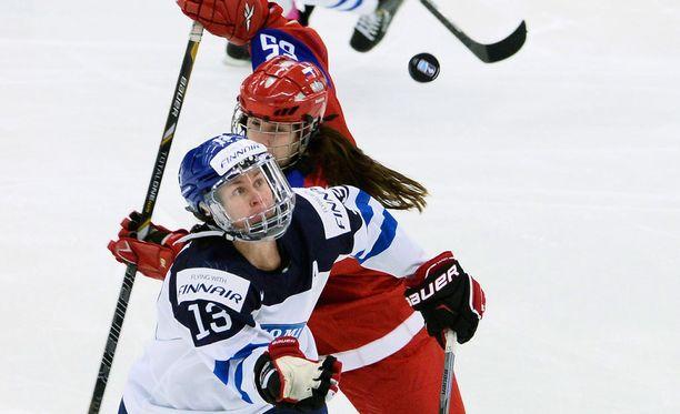 Riikka Välilä teki Suomen ainoan maalin.