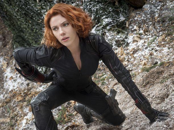 Scarlett Johansson Avengers: Age of Ultron -elokuvassa.