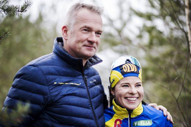 Matti Haavisto ja Krista Pärmäkoski ovat tehneet menestyksekästä yhteistyötä. Kahden viime kauden saldo on neljä henkilökohtaista arvokisamitalia.