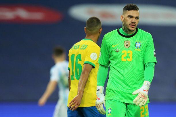 Manchester Cityn tähtimaalivahti Ederson edustaa Brasiliaa.