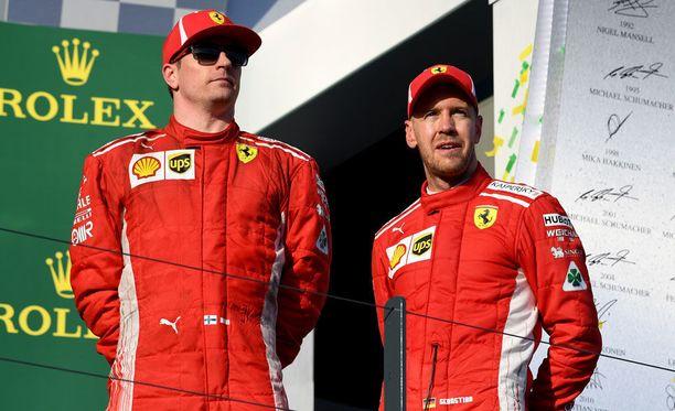 Kimi Räikkönen ja Sebastian Vettel ovat olleet hyviä kavereita keskenään vuodesta 2007 lähtien.