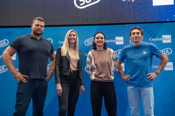 Daniel Ståhl, Kristiina Mäkelä, Senni Salminen ja Armand Duplantis ovat SUL:n pääyhteistyökumppanin uudet keulakuvat.