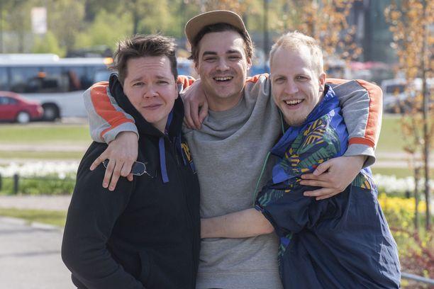 Janne Pikka, Karim Saheb ja Miika Tuohimaa kertovat, että heidän työntekonsa yksi kulmakivistä on huumori.