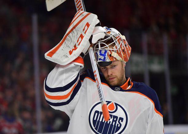 Kaksimetrinen Mikko Koskinen siirtyi Edmonton Oilersiin yksivuotisella sopimuksella.