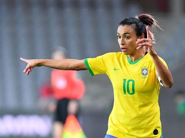 Marta on ollut jo vuosia Brasilian maajoukkueen suurimpia tähtiä.
