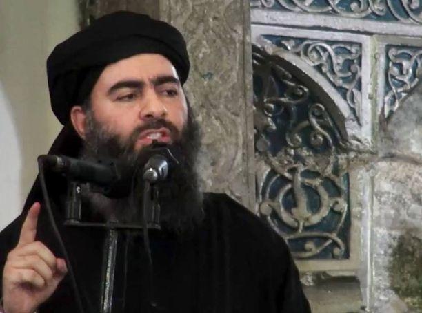 Harvinainen kuva Abu Bakr al-Baghdadista vuodelta 2014.