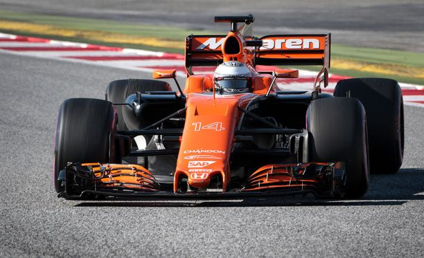 Oranssin värityksen saanut McLaren on kaukana takavuosien suorituskyvystään.