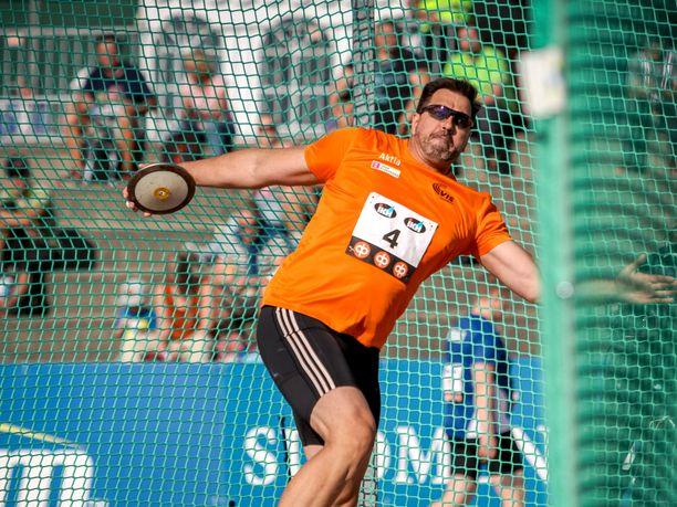 Frantz Kruger voitti jälleen SM-kultaa kiekossa.