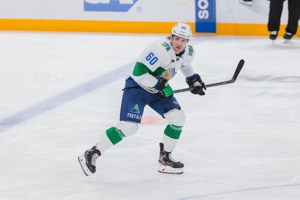 Markus Granlund, 27, pelaa ensimmäistä kauttaan Salavat Julajev Ufan riveissä. Hän tehtaili 50 runkosarjaottelussa tehot 23+30=53.