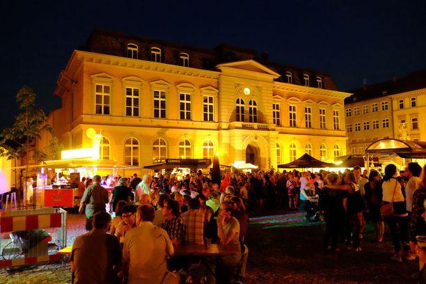 Rikos tapahtui Mühlhausenin kaupungissa. Kuvituskuva kaupungin markkinoilta.