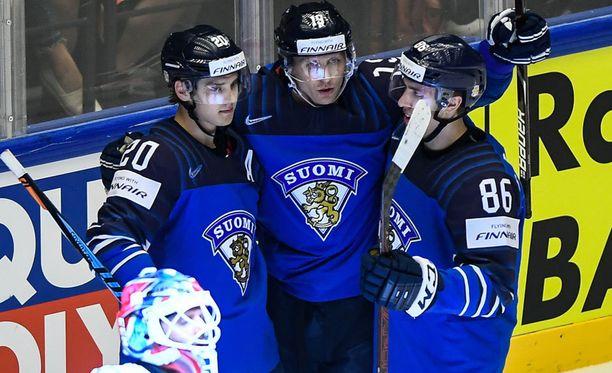 Suomi on mättänyt jo 23 maalia näissä MM-kisoissa.