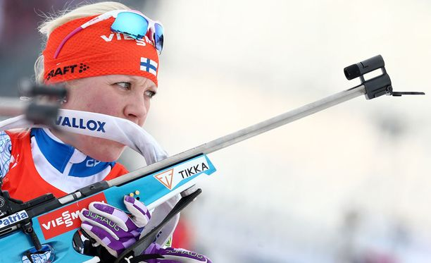 Kaisa Mäkäräinen vei voiton Hanty-Mansijskissa.