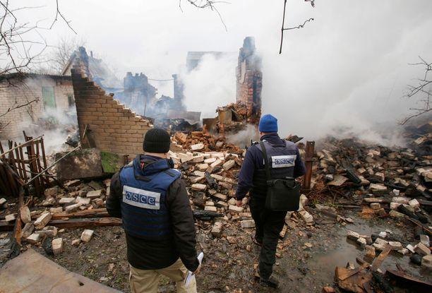 Putinin uuden kauden aikana meneillään olevat kriisit todennäköisesti syvenevät. Kuva Itä-Ukrainasta, jossa sota jatkuu edelleen.