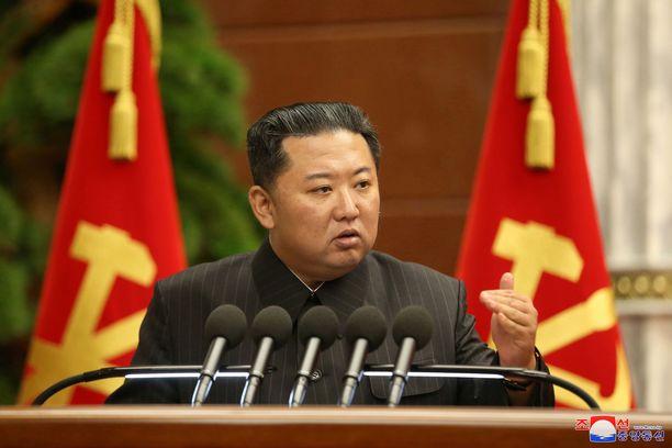 Pohjois-Korean diktaattori Kim Jong-un kuvattuna syyskuun alussa puoluekokouksessa.