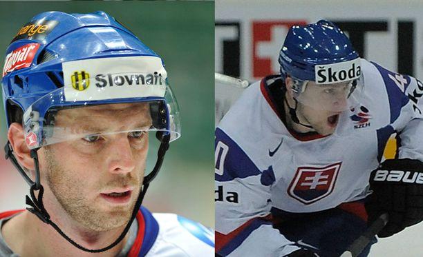 Richard Lintner (vasemmalla) muisteli vain 34-vuotiaana kuollutta Marek Svatosia.