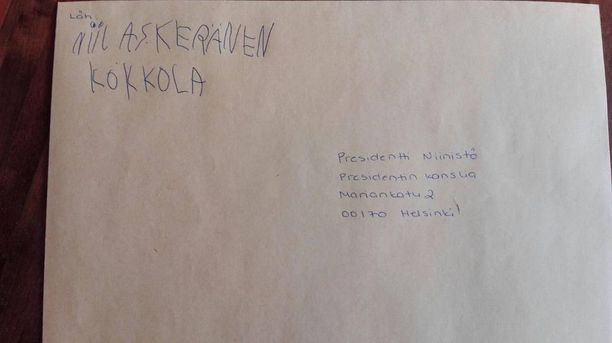 Kirje presidentin kansliaan lähti kevättalvella helmi-maaliskuun vaihteessa.