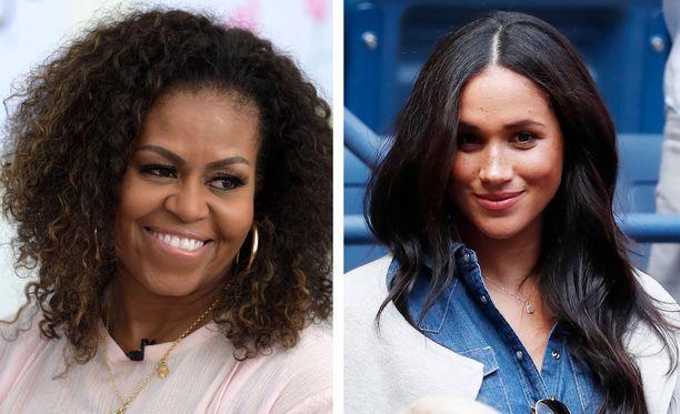 Michelle Obama ja Meghan ovat tyttöjen oikeuksien puolestapuhujia.
