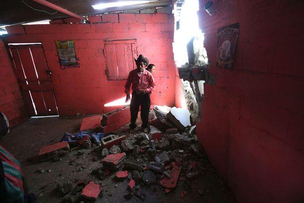 Taloja tuhoutui myös Guatemalassa.