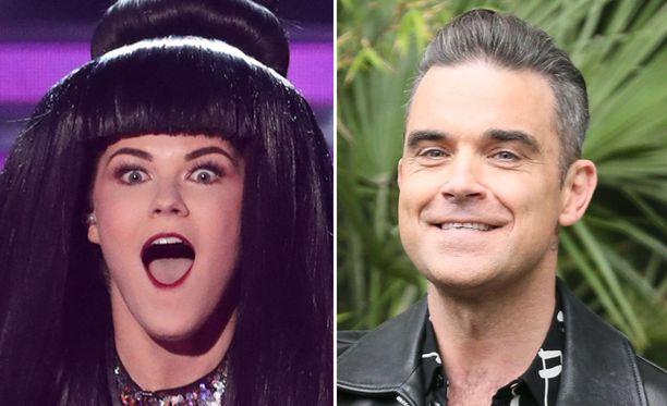 Niin se mieli muuttuu. Saara Aalto onkin yksi Robbie Williamsin suosikeista.