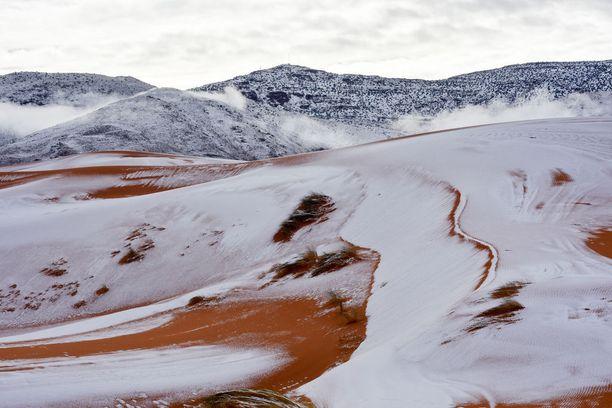 Paikalliset yllättyivät nähdessään luntaa. Maa hohkasi näin valkoisena.