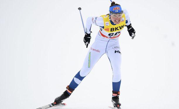 Kerttu Niskanen sijoittui kahdeksanneksi Toblachin kympin vapaalla.