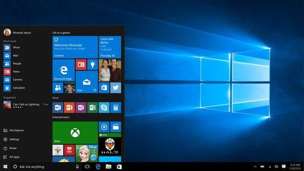 Windows 10 laajeni puhelimiin ja Continuum-toiminnolla niitä voi hyödyntää isolla näytöllä, samoin kuin muitakin Windows 10 -laitteita.