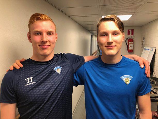 Aku ja Aatu Räty pelaavat viikonloppuna Suomen alle 20-vuotiaiden maajoukkueessa.