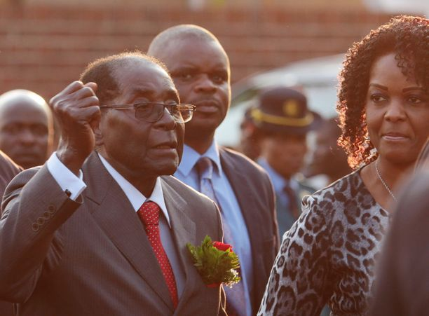 Robert ja Grace Mugabe syyskuussa 2016.